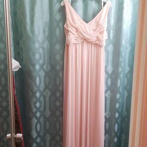 David's bridal cowl back bridesmaid dress